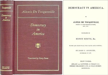 Alexis de Tocqueville Democracy in America Book